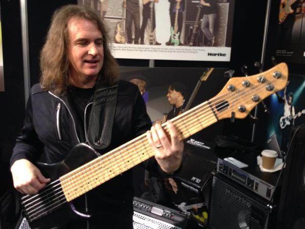 David Ellefson with Dan's Bass