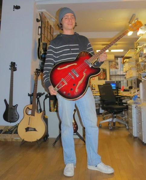 Jesse with Original Framus Bass
