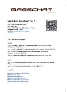 South East Bass Bash 2013 timetable