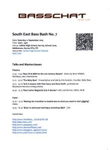 South East Bass Bash 2013 timetable